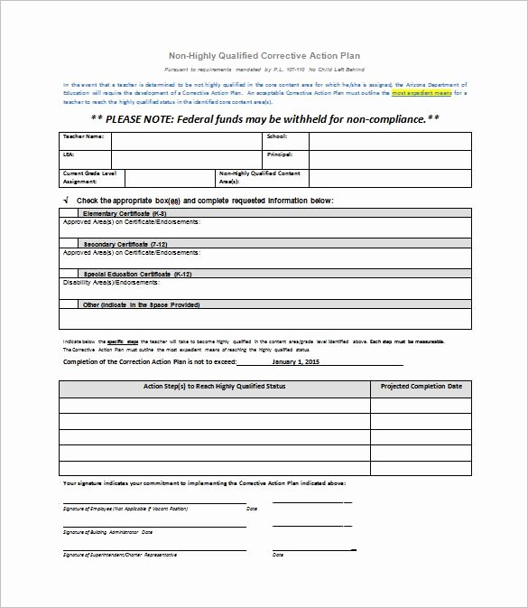 Corrective Action form Template Awesome Corrective Action Plan Template 22 Free Word Excel