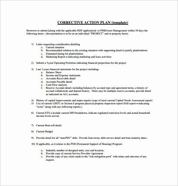 Corrective Action Plan Template Awesome Project Action Plan Template 17 Free Word Excel Pdf