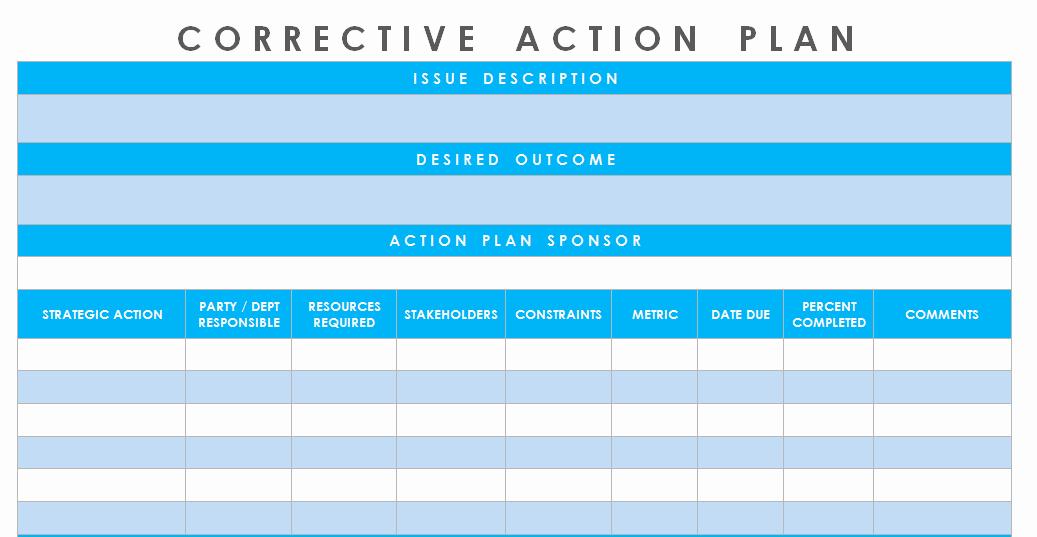 Corrective Action Plan Template Unique Get Corrective Action Plan Template Excel – Microsoft