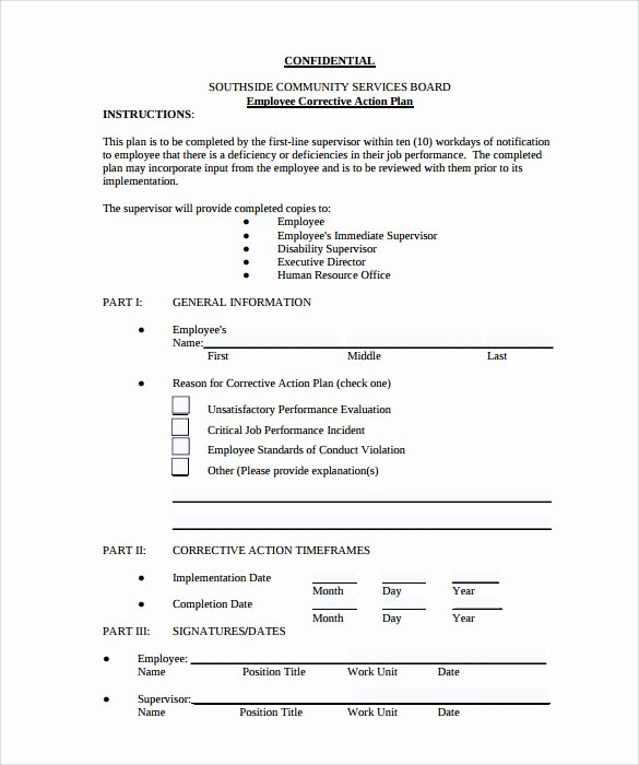 Corrective Action Plan Template Unique Sample Employee Action Plan 12 Documents In Pdf