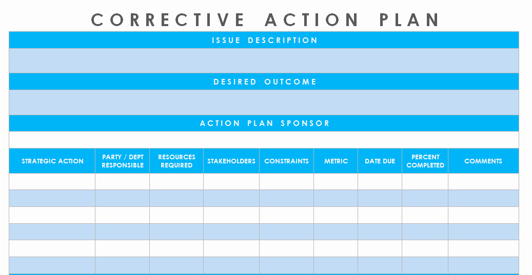 Corrective Action Template Word Unique Get Corrective Action Plan Template Excel Microsoft