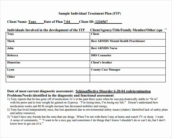 Counseling Treatment Plan Template Pdf Luxury Counseling Treatment Plan Template Pdf