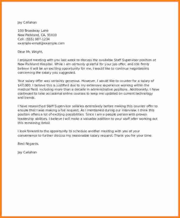 Counter Offer Letter Template Best Of 8 Example Of Counter Offer Letter Salary