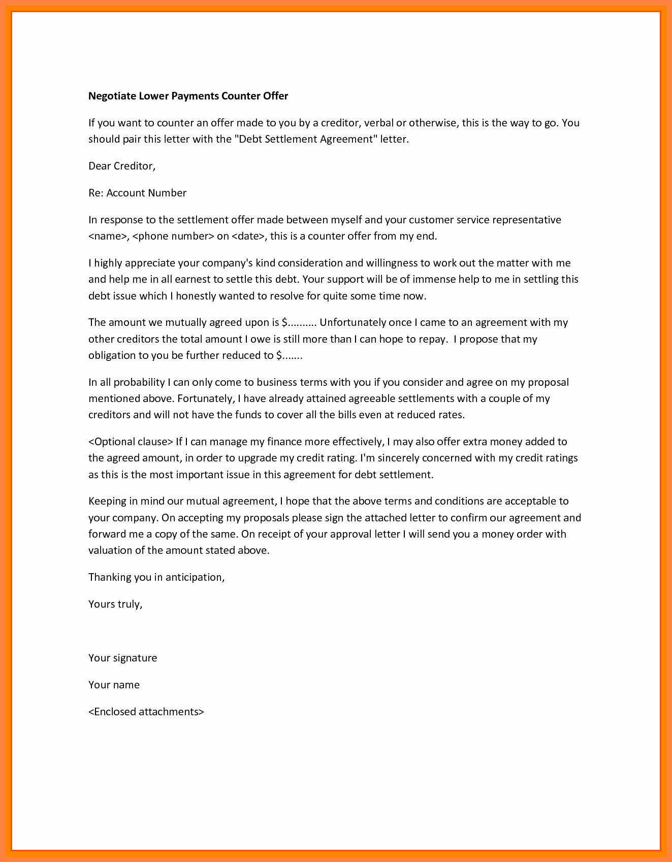 Counter Offer Letter Template New 3 Example Of Counter Offer Letter Salary