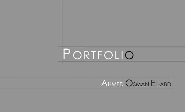 Cover Page for Portfolio Template Elegant Ahmed Osman Portfolio