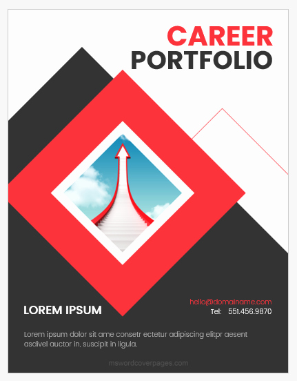 Cover Page for Portfolio Template Fresh Career Portfolio Cover Page Templates Word