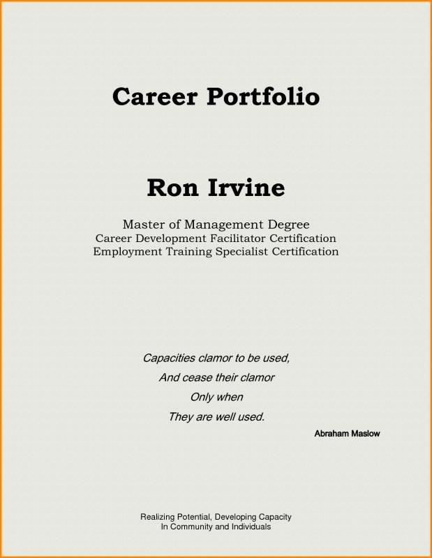 Cover Page for Portfolio Template Fresh Teaching Portfolio Template