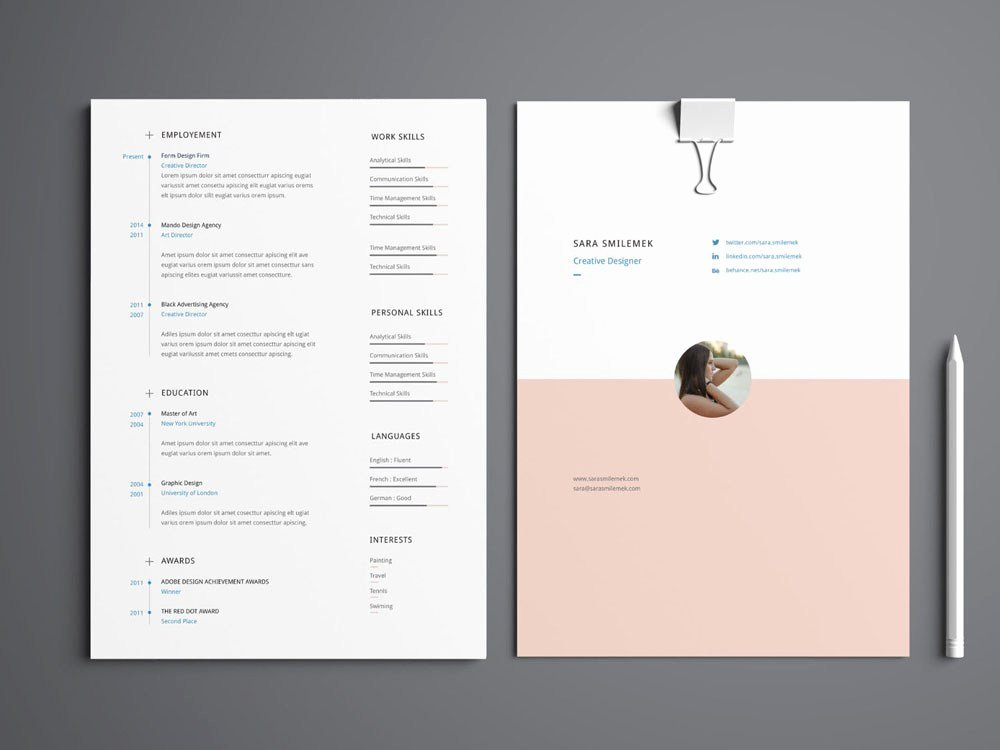 Cover Page for Portfolio Template Inspirational Smilemek Free Resume Template with Cover Letter and