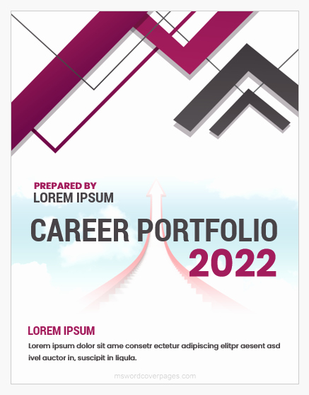 Cover Page for Portfolio Template Lovely Career Portfolio Cover Page Templates Word