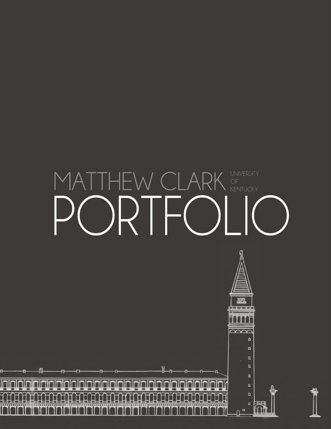 Cover Page for Portfolio Template New Matthew Clark Landscape Architecture Portfolio by Matthew