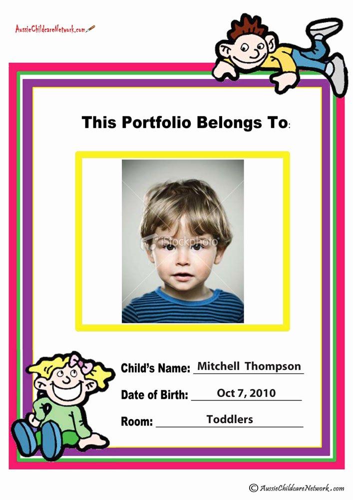 Cover Page for Portfolio Template New Portfolio Coverpage Aussie Childcare Network