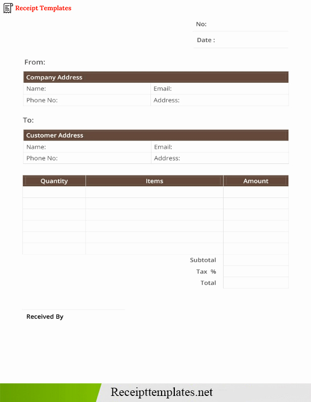 Credit Card Receipt Template Lovely Credit Card Receipt Template [pdf Word Doc & Excel