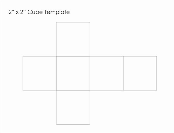 Cube Template Microsoft Word Awesome 18 Paper Cube Templates Pdf Doc