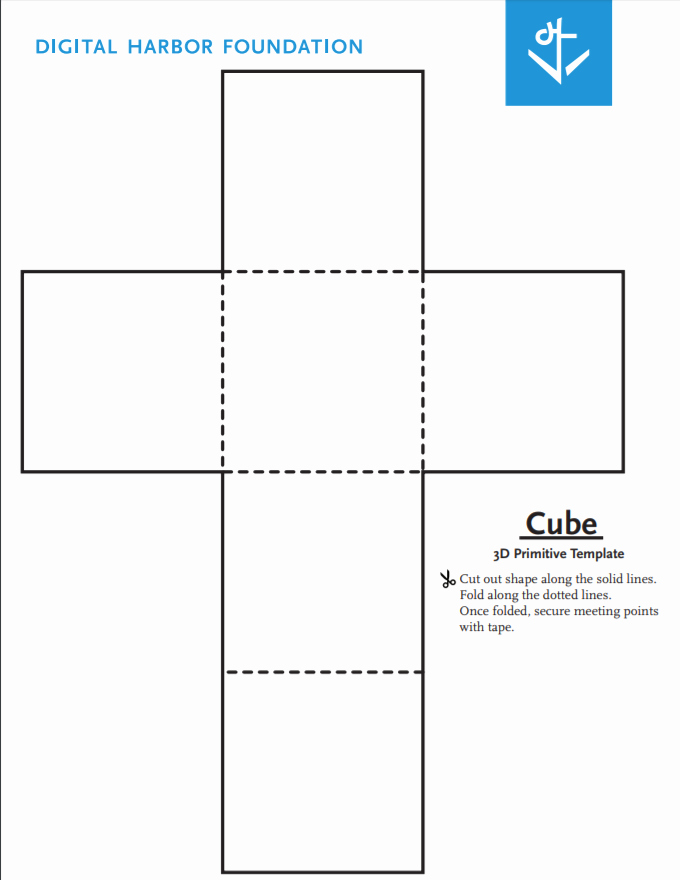 Cube Template Microsoft Word Best Of Cube Primitive Template Blueprint by Digital Harbor