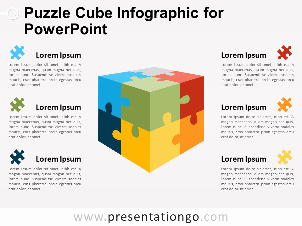 Cube Template Microsoft Word Best Of Puzzle Cube Infographic for Powerpoint Presentationgo