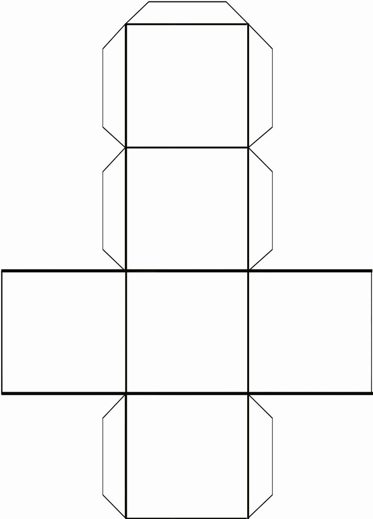 Cube Template Microsoft Word Fresh Cube Ybe to Make Dice