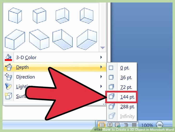 Cube Template Microsoft Word Luxury 3 Ways to Create A 3d Object In Microsoft Word Wikihow
