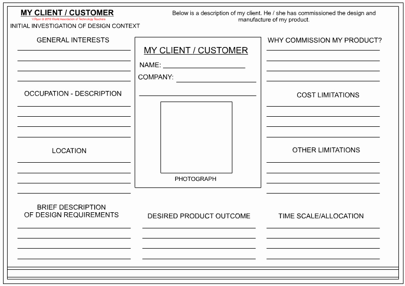 Customer Profile Template Word Awesome Client Customer Profile Sheet Textile Design