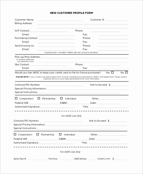 Customer Profile Template Word Awesome Customer Profile Template Fice Work
