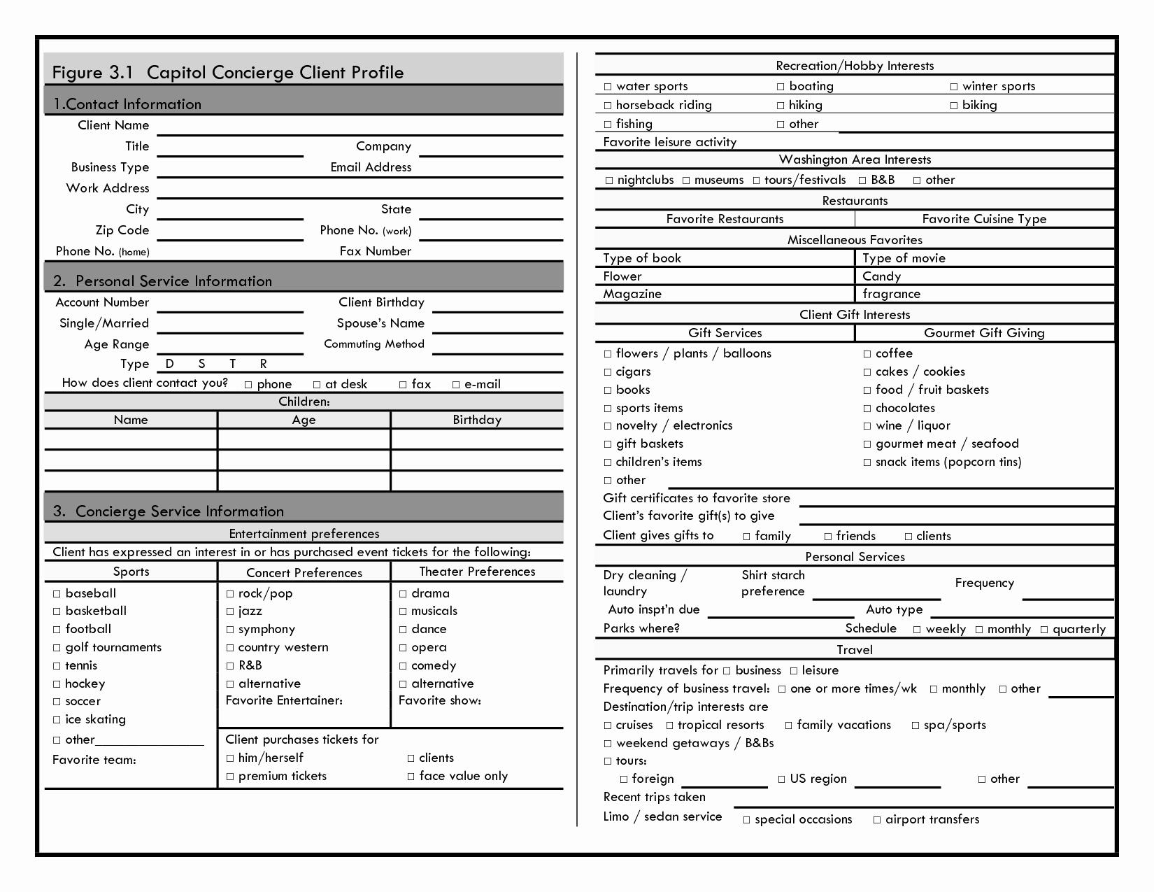 Customer Profile Template Word New 14 Design Client Profile Template Interior Design