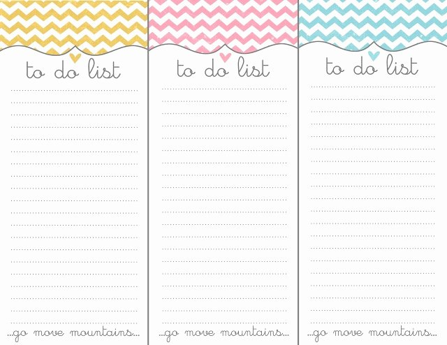 Cute to Do List Template Awesome Cute Chevron to Do List Printable