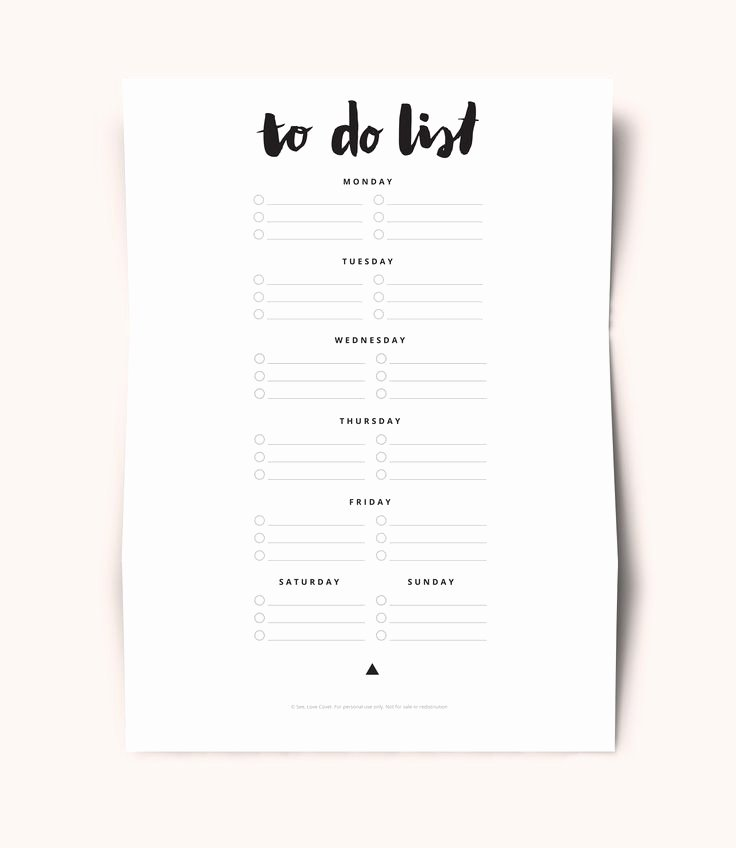 Cute to Do List Template Beautiful Free Printable to Do List