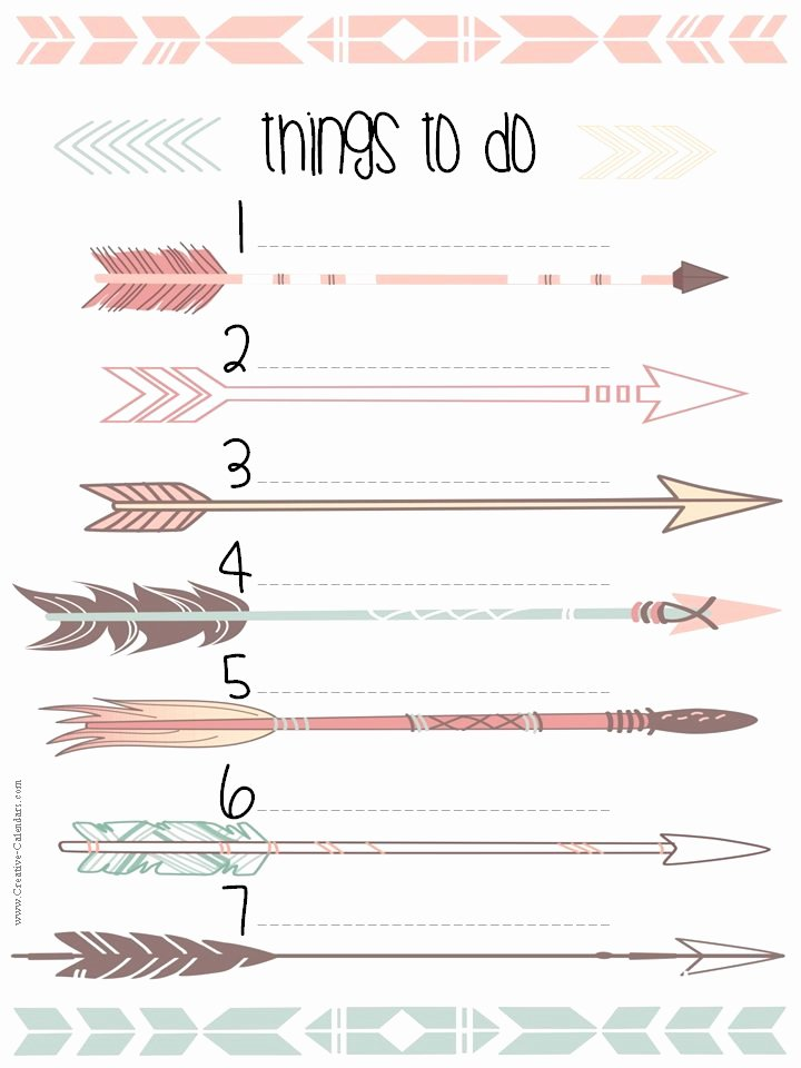 Cute to Do List Template Beautiful to Do List Template