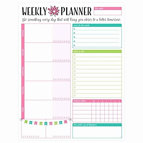 Cute to Do List Template Beautiful Weekly to Do List Amazon