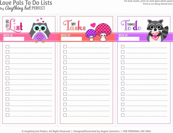 Cute to Do List Template Best Of 50 Best Lists Planning Images On Pinterest