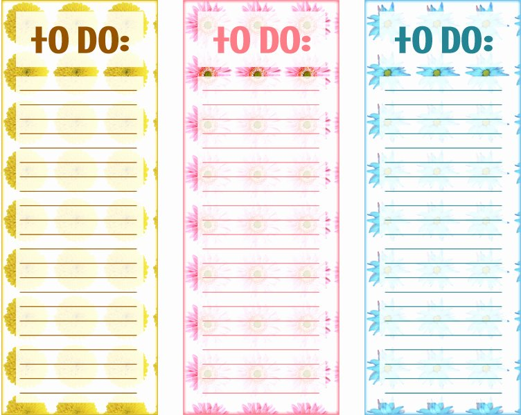 Cute to Do List Template Elegant 40 Printable to Do List Templates