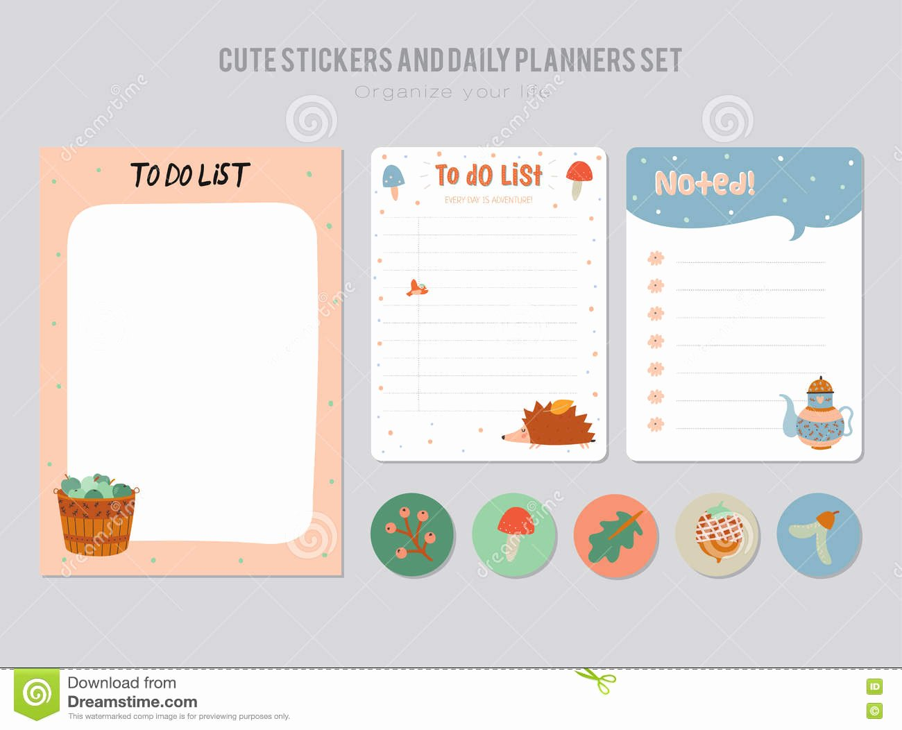 Cute to Do List Template Elegant Cute Daily Calendar and to Do List Template Stock Vector