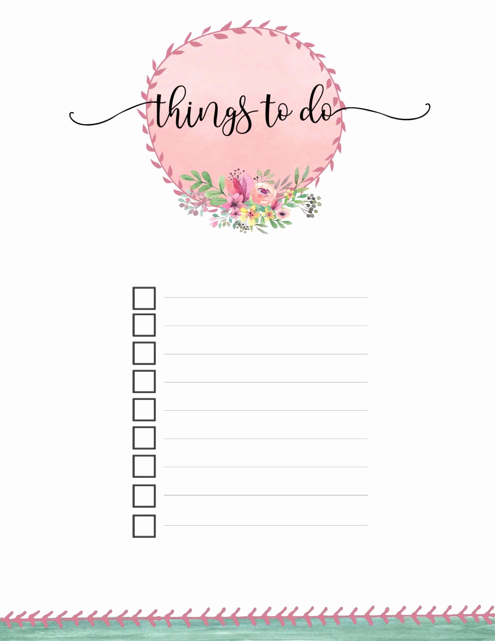 Cute to Do List Template Elegant Free Printable to Do List Print or Use Line