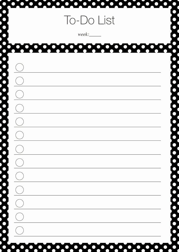 Cute to Do List Template Fresh 40 Printable to Do List Templates