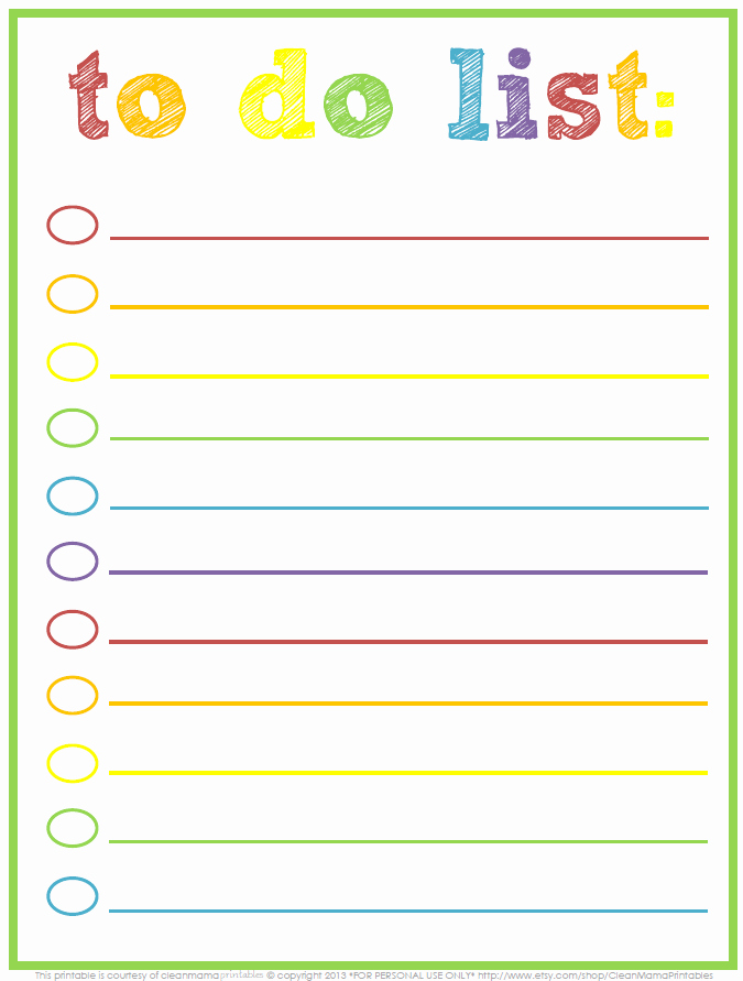 Cute to Do List Template Inspirational 3 Free Printable to Do Lists to Jumpstart Your