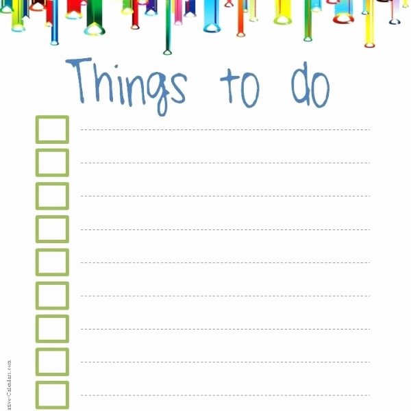 Cute to Do List Template Luxury to Do List Template In Cute Checklist Template Examples
