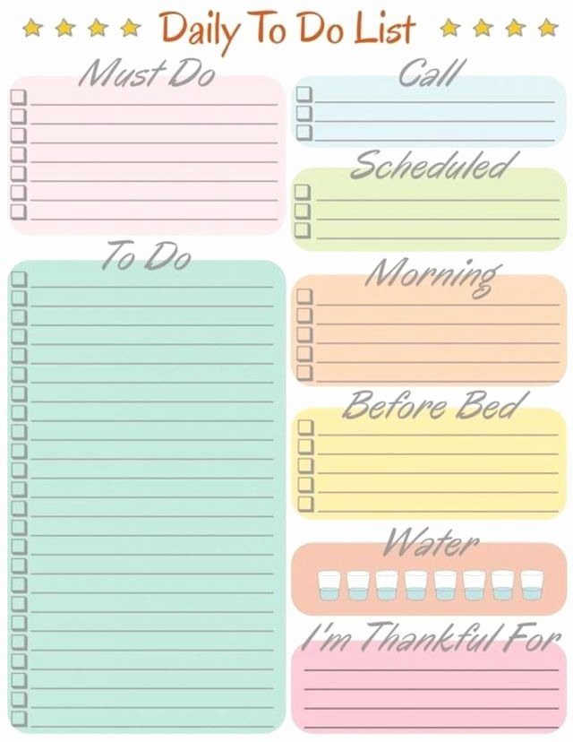Cute to Do List Template New Daily to Do List Cute