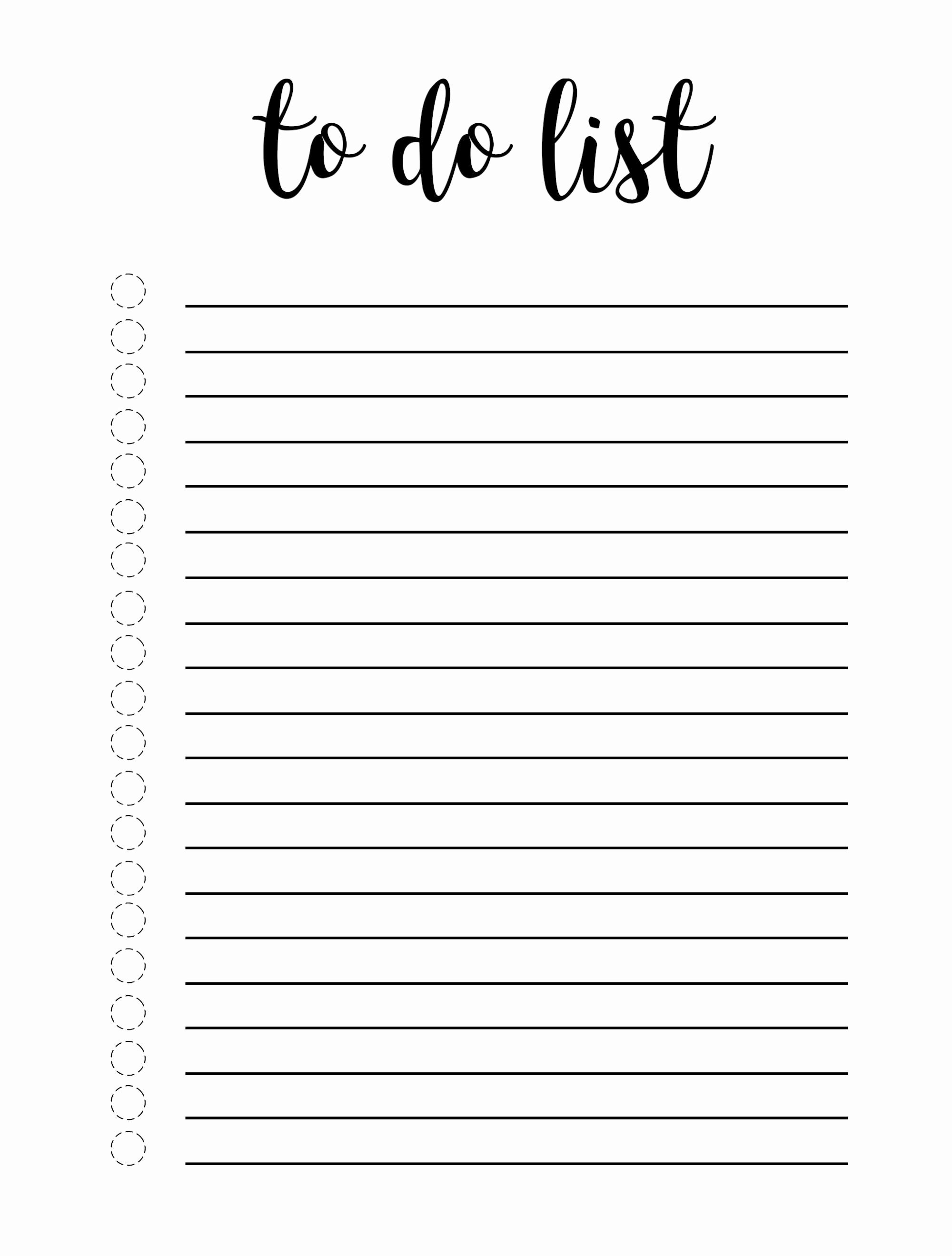 Cute to Do List Template Unique Cute to Do List Template Word Excel E Platform for