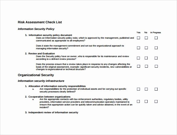 Cyber Security Risk assessment Template Best Of Free 12 Sample Security Risk assessment Templates In Pdf