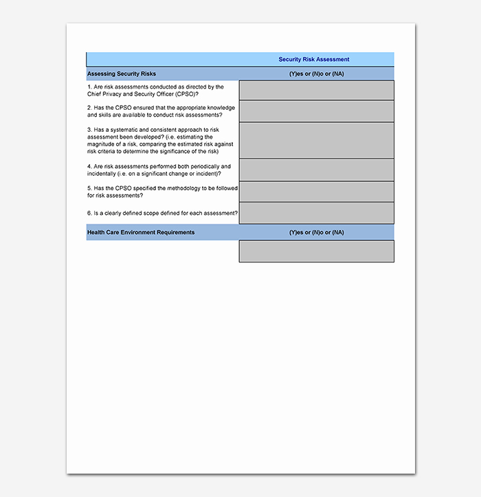 Cyber Security Risk assessment Template Lovely Security assessment Template 18 Word Excel & Pdf format