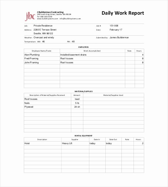 Daily Activity Report Template Inspirational Daily Report Template 25 Free Word Excel Pdf