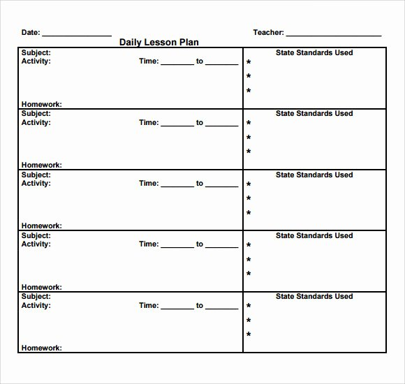 Daily Lesson Plan Template Pdf Best Of Sample Daily Lesson Plan 8 Documents In Pdf Word