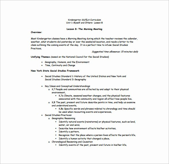 Daily Lesson Plan Template Pdf New Daily Lesson Plan Template 10 Free Word Excel Pdf