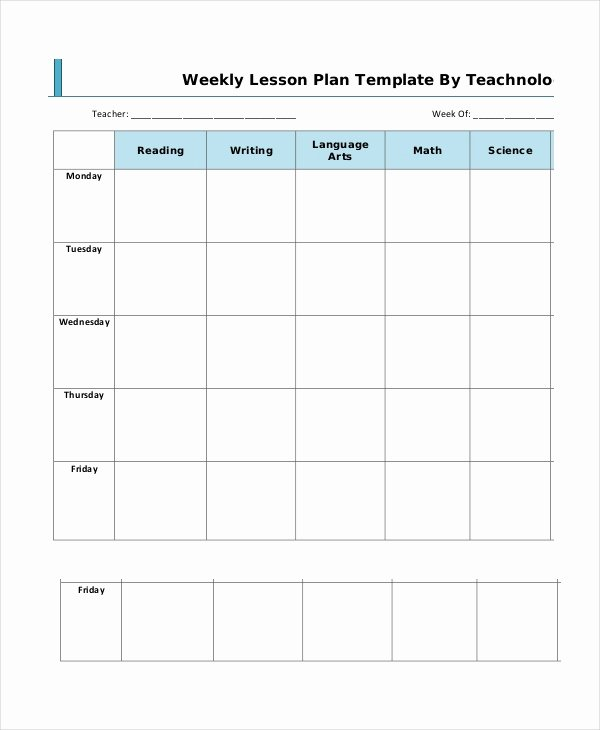 Daily Lesson Plan Template Pdf New Lesson Plan Template 14 Free Word Pdf Documents