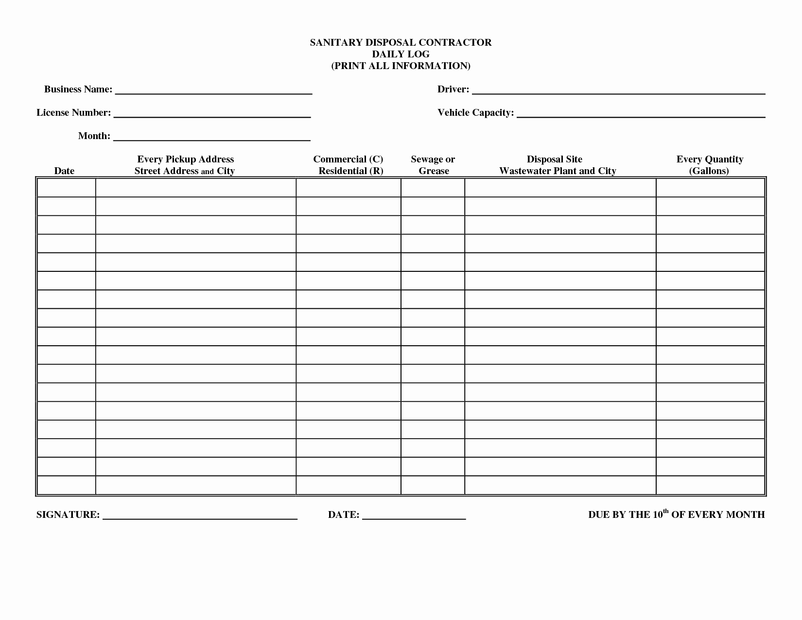 Daily Log Book Template Best Of Best S Of Daily Log Examples Daily Log Book
