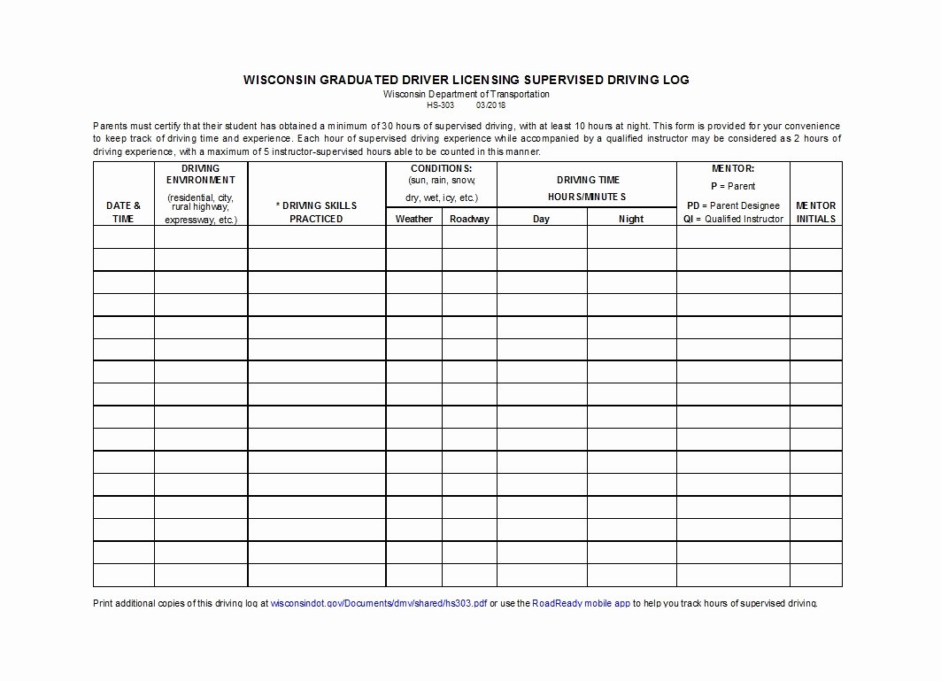 Daily Log Book Template Inspirational 50 Printable Driver S Daily Log Books [templates & Examples]