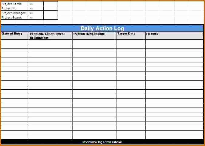 Daily Log Sheet Template Free Inspirational 7 Daily Log Template
