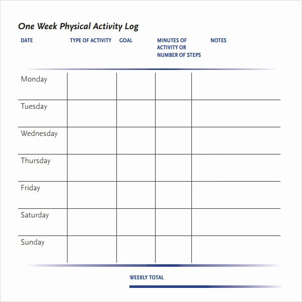 Daily Log Template Excel Beautiful Activity Log Template – 12 Free Word Excel Pdf
