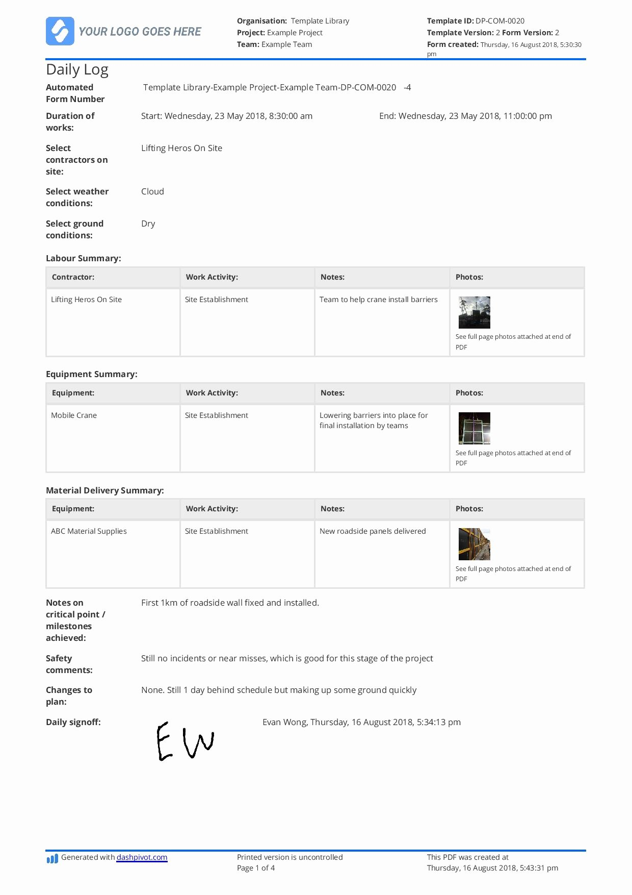 Daily Log Template Excel Best Of Free Daily Construction Log Template Better Than Excel