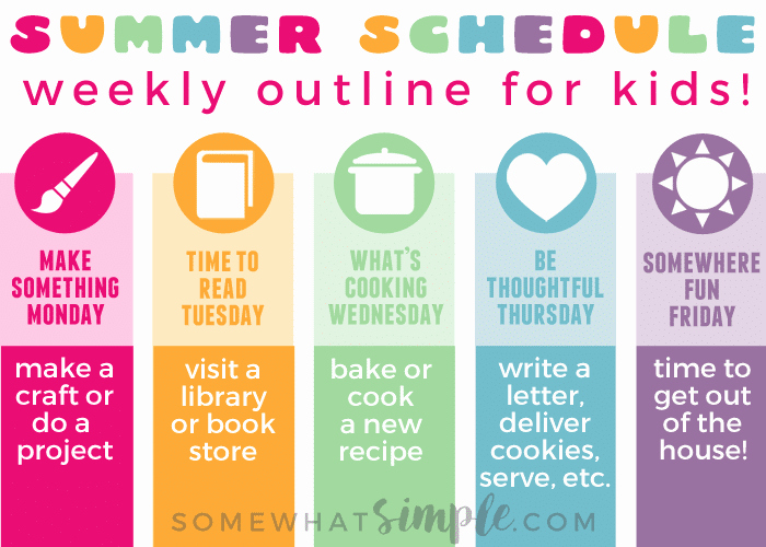 Daily Schedule Template for Kids Awesome Summer Schedule for Kids Free Printable somewhat Simple