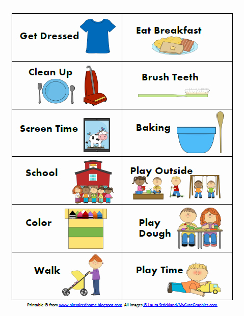 Daily Schedule Template for Kids Elegant Pinspired Home Creating A Routine that Works for My